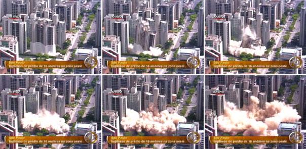 Implosão de prédio em São Paulo